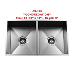 Urban Place Congregation ZS-100 Double Bowl Stainless Steel Kitchen Sink