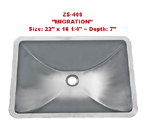 Urban Place Migration Vanity Single Bowl Stainless Steel Sink