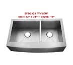 Homeplace Tyler EFD3320 Double Bowl Stainless Steel Sink