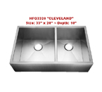 Homeplace Cleveland HFO3320 Double Bowl Stainless Steel Sink