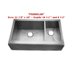 Homeplace Franklin Double Bowl Stainless Steel Sink