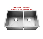 Homeplace Kilgore HBO3320A Double Bowl Stainless Steel Sink