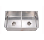 Dawn DSC301717 Undermount Single Bowl with Acrylic Glass Divide, 16 Gauge Stainless Steel Sink