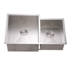 Dawn DSQ311815 Undermount Double Bowl Stainless Steel Sink with Zero Radius Corners