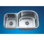 Dawn ASU107L Undermount Double Bowl Stainless Steel Sink