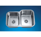 Dawn ASU108L Undermount Double Bowl Stainless Steel Sink