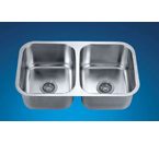 Dawn ASU109 Undermount Equal Double Bowl Stainless Steel Sink