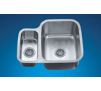 Dawn ASU111L Undermount Double Bowl Stainless Steel Sink