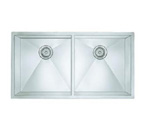 Blanco 516212 Undermount Large Equal Double Bowl Stainless Steel Sink