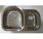 Mazi 915 Undermount Double Bowl Stainless Steel Sink