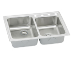 Elkay Lustertone LR250 Topmount Double Bowl Stainless Steel Sink
