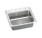 Elkay Lustertone LR2521 Topmount Single Bowl Stainless Steel Sink
