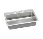 Elkay Lustertone LR3122 Topmount Single Bowl Stainless Steel Sink