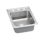 Elkay Lustertone LRAD1722 U-Channel Topmount Single Bowl Stainless Steel Sink