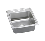 Elkay Lustertone LRAD2022 U-Channel Topmount Single Bowl Stainless Steel Sink