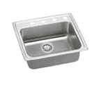 Elkay Lustertone LRAD2521 U-Channel Topmount Single Bowl Stainless Steel Sink