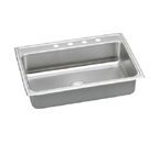 Elkay Lustertone LRAD3122 U-Channel Topmount Single Bowl Stainless Steel Sink