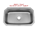 Patriot PAUS17 Texan Undermount Single Bowl Stainless Steel Sink