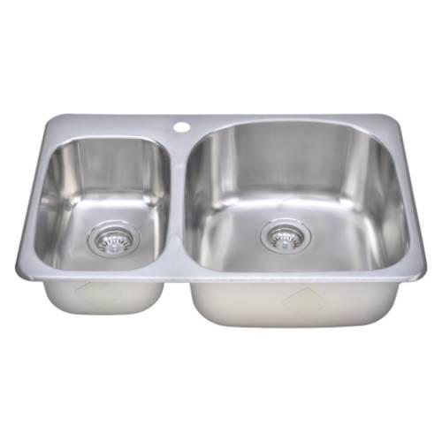 sinkware 18 bowl topmount stainless