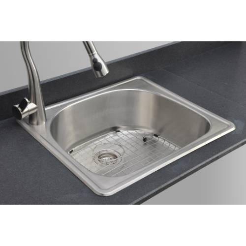 18 Gauge D-shape Single Bowl Topmount Stainless Steel Kitchen Sink ...