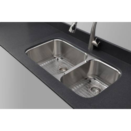 Wells Sinkware 18 Gauge 60 40 Double Bowl Undermount