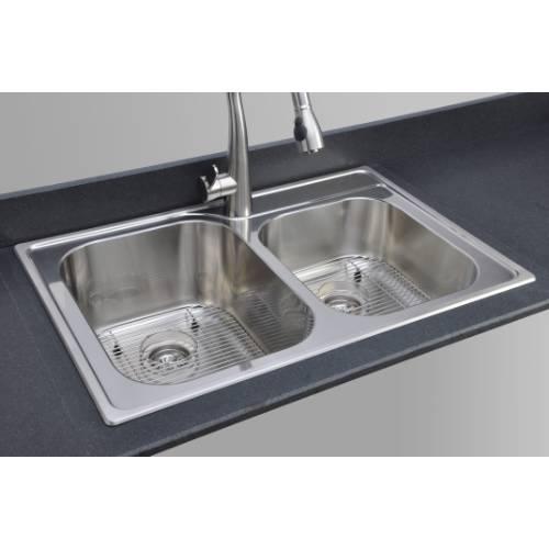 Flat Rim Stainless Steel Kitchen Sinks