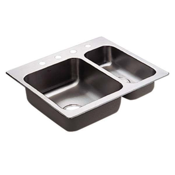 moen 22238 camelot stainless steel 20 gauge double bowl