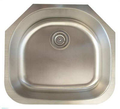Alpha International U 235 Undermount Single Bowl Stainless Steel Sink