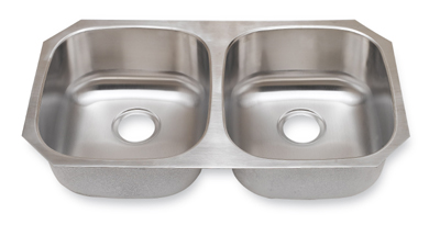 Suneli SM502 16 16 Gauge Undermount Double Bowl Stainless Steel Sink