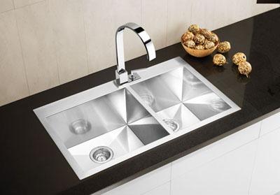 Flush Mount Kitchen Sinks Blanco precision microedge insetflushmount 1 34 double bowl sink view detailed images 1 workwithnaturefo