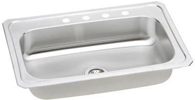 Elkay 33x22 Celebrity Topmount Stainless Steel Single Bowl Sink CRS3322