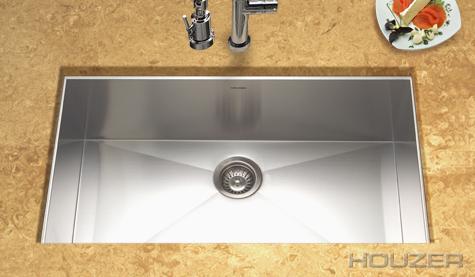 Houzer Contempo Zero Radius Undermount Large Single Bowl CTG 3200|  Stainless Sinks | Stainless Steel Sinks | StainlessSteelSinks.org