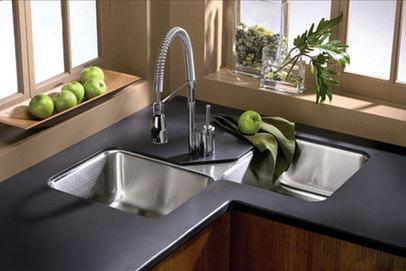 Kitchen Sinks Elkay Avado Eluh3232 Undermount Corner Stainless Steel Sink
