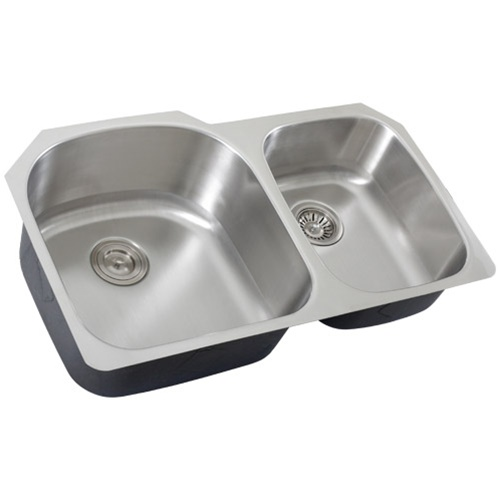 Double Bowl Stainless Sink : Ticor S105-8 Undermount Stainless Steel Double Bowl Kitchen Sink