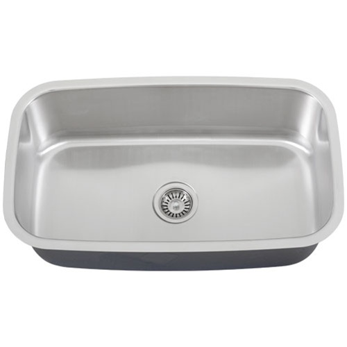 Undermount Stainless Steel Sink Single Bowl : Ticor S112 Undermount Stainless Steel Single Bowl Kitchen Sink