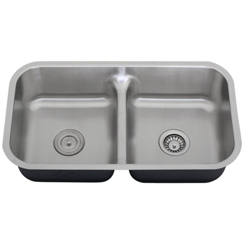 Stainless Steel Sink 16 Gauge : ... Divide Undermount 16-Gauge Stainless Steel Kitchen Sink + Accessories