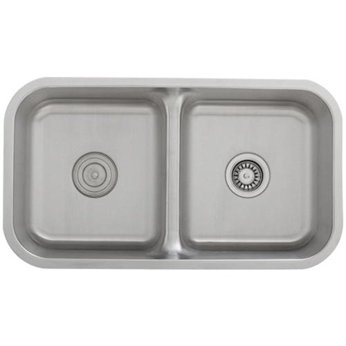 Ticor S1210 Low Divide Undermount 16 Gauge Stainless Steel Kitchen Sink