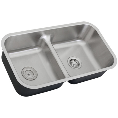 Ticor S1210 Low-Divide Undermount 16-Gauge Stainless Steel Kitchen Sink