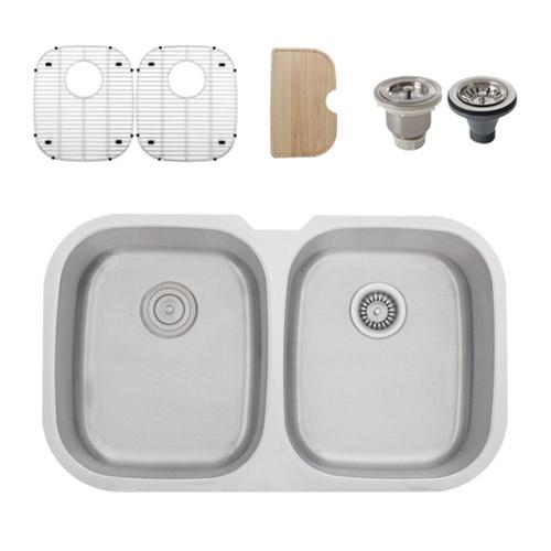 Ticor s205d undermount 16 gauge stainless steel kitchen - Stainless steel kitchen sink accessories ...