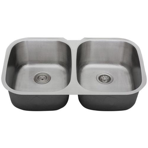 Ticor S205D Undermount 16-Gauge Stainless Steel Kitchen Sink