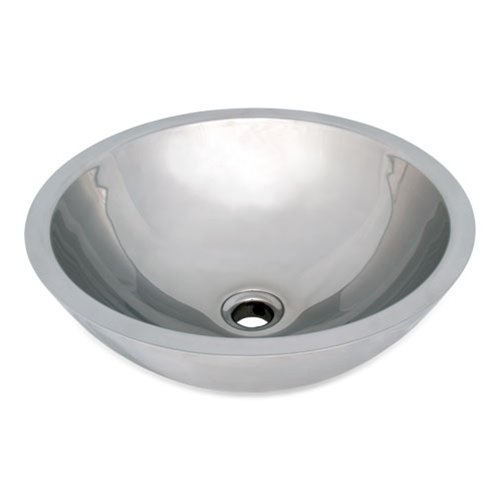 Ticor S2090 Vessel Stainless Steel Round Bathroom Sink