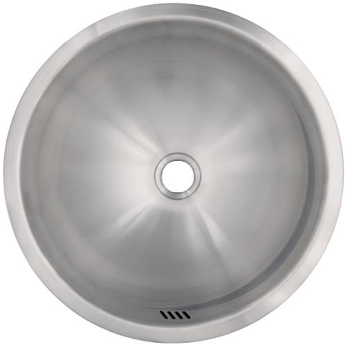 Ticor S2095 Vessel Stainless Steel Round Bathroom Sink