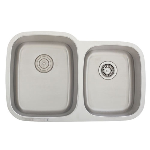 Stainless Steel Sink 16 Gauge : ... S305D Undermount 16-Gauge Stainless Steel Kitchen Sink + Accessories