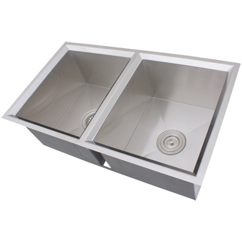 16 Gauge Stainless Steel Sink : Ticor S308 Undermount 16-Gauge Stainless Steel Kitchen Sink