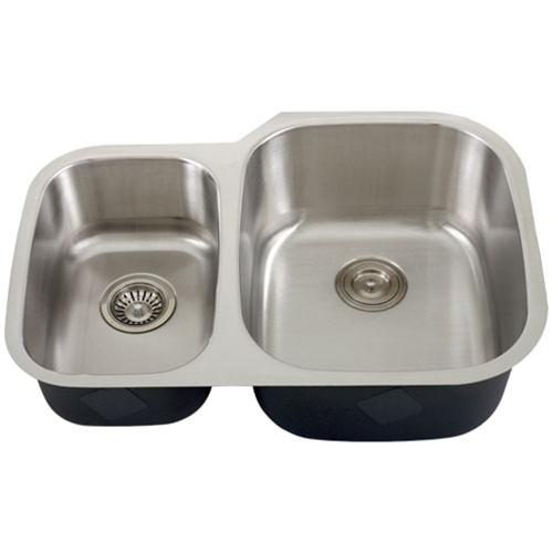 ... Undermount Stainless Steel Double-Bowl Kitchen Sink + Accessories