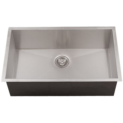 Undermount Stainless Steel Kitchen Sink : Ticor S3510 Undermount 16-Gauge Stainless Steel Kitchen Sink