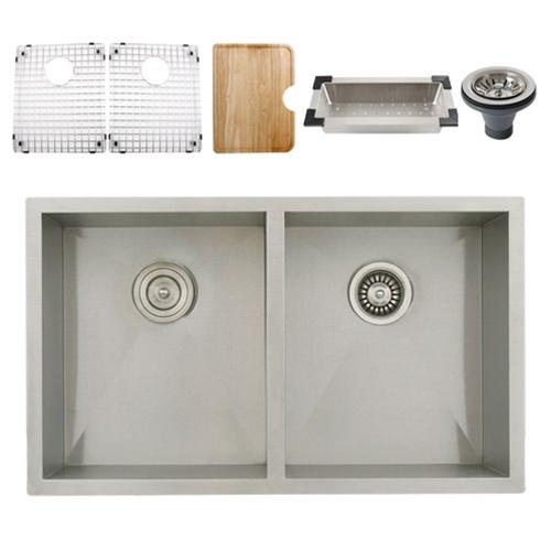 Ticor S3550 Undermount 16-Gauge Stainless Steel Kitchen Sink ...