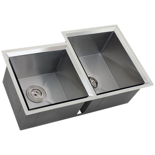 16 Gauge Stainless Steel Sink : Ticor S608R Undermount 16-Gauge Stainless Steel Kitchen Sink