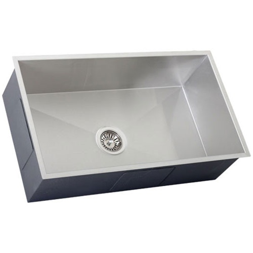 16 Gauge Stainless Steel Sink : Ticor S6503 Undermount 16-Gauge Stainless Steel Kitchen Sink