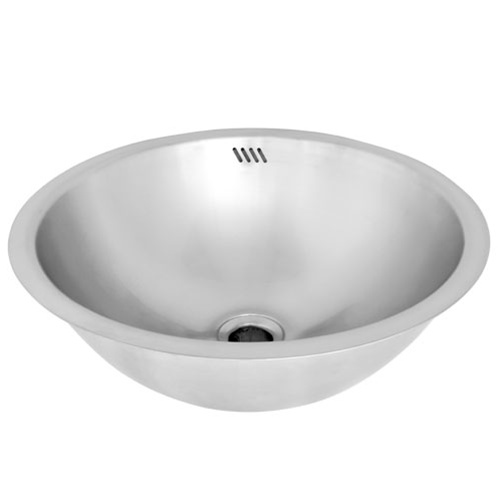 Ticor S710 Undermount Stainless Steel Round Bathroom Sink